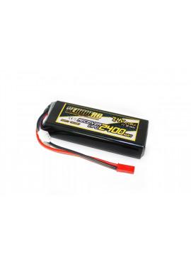 Yellow RC LiPo Receiver Pack Straight 2400mAh 7.4V
