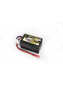 Yellow RC LiPo Receiver Pack Hump 2500mAh 7.4V