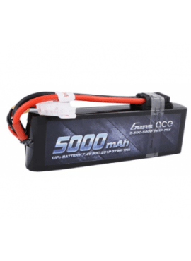 GENS ACE 5000mah 2s 7.4V 50C TRX connector