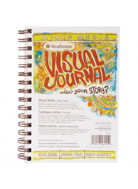 Visual Journal Mixed Media Vellum 5.5