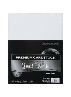Premium cardstock Great White