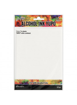 Alcohol Ink White Yupo Paper 10 Sheets 5