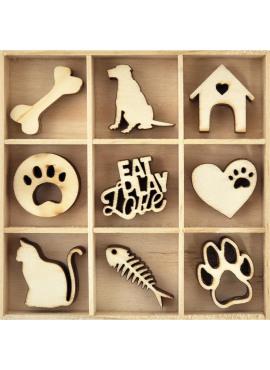 Wooden Flourish pack - pets
