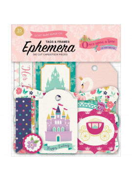 Once upon a time princess frames & tags ephemera die cut pieces