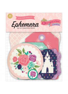 Once upon a time princess ephemera Die cut pieces