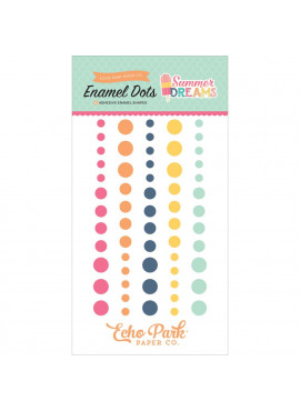 Summer Dreams Adhesive Enamel Dots