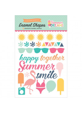 Summer Dreams Adhesive Enamel Shapes