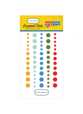 Toy Box Enamel Dots 60/Pkg