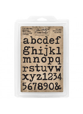 Tim Holtz Idea-ology cling foam stamps - Type lower