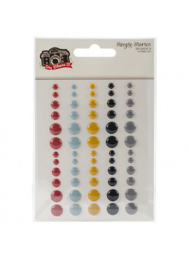 Say Cheese III Enamel Dots Embellishments 60/Pkg