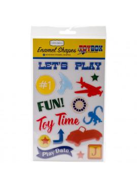 Toy Box Enamel Shapes