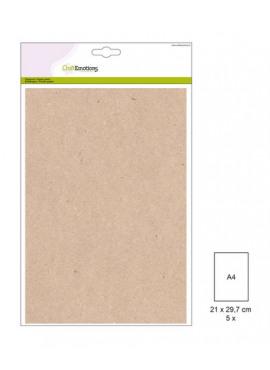 Papiervel Kraft licht bruin