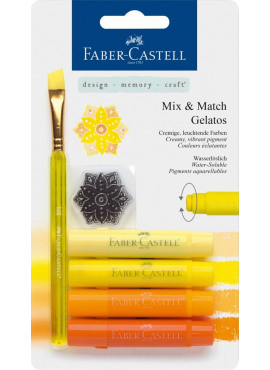 Mix & Match Gelatos & Clear Stamp Set Yellow