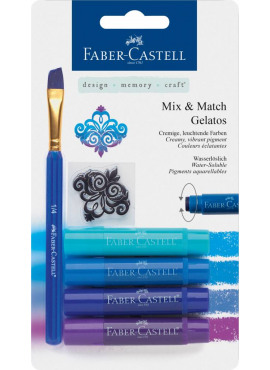 Mix & Match Gelatos & Clear Stamp Set Blue
