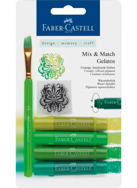 Mix & Match Gelatos & Clear Stamp Set Green