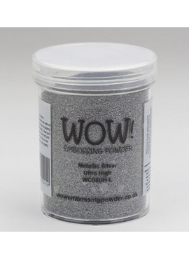 Embossing powder metallic silver Ultra High