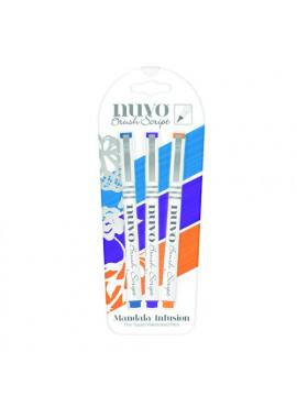 Nuvo Brush Script pen pack Mandala infusion