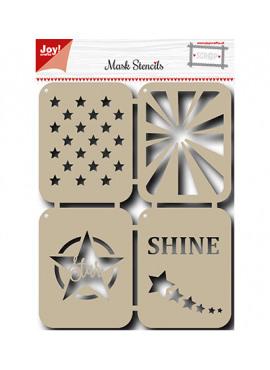 Mask stencils stars