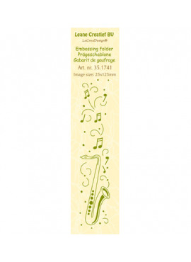 embossing folder border saxophone