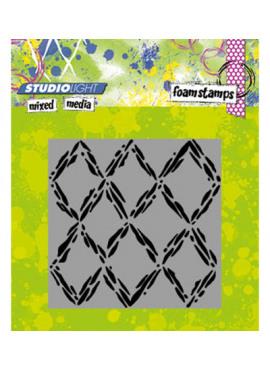 Foam stamp mixed media 03