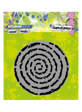 Foam stamp mixed media 04