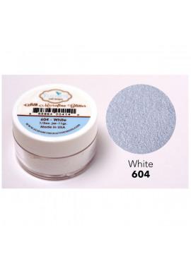 Silk microfine glitter White