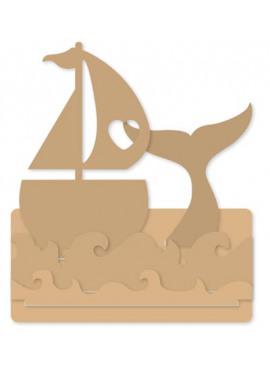 Mdf 4mm sailboat set