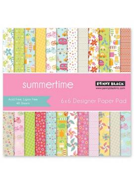 Summertime 6x6 designer paper pad