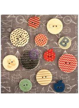 Wood buttons - school memories