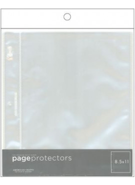 Page Protectors Top-Loading 8.5