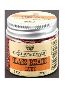 Prima Glass beads - Ruby