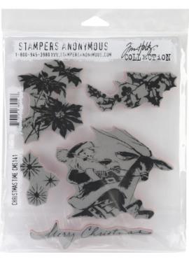 Stampers anonymous - Cling stamp - Christmas time