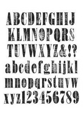 Stampers anonymous - Cling stamp - Worn text