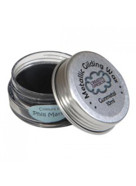Metallic gilding wax Gunmetal