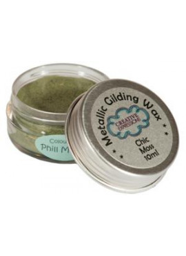 Metallic gilding wax chic moss