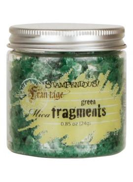 Mica fragments Green
