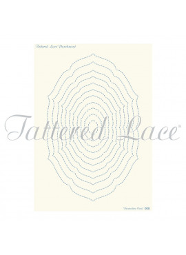 Parchment Grid Decorative Oval