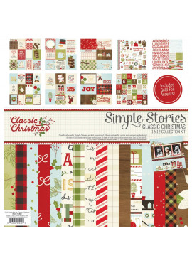 Classic Christmas Simple Stories collection kit