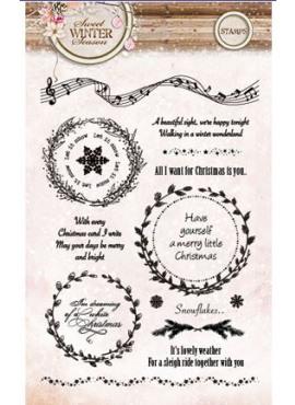 Clear stamps - Sweet winter season 123