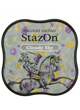 StazOn Cloudy Sky Midi Solvent Ink Pad