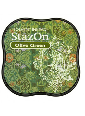 StazOn Olive Green Midi Solvent Ink Pad
