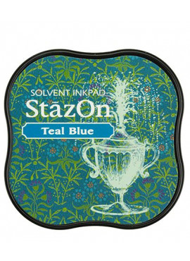 StazOn Teal Blue Midi Solvent Ink Pad