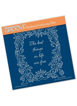 Groovi plate Leafy Frame