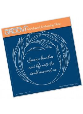 Groovi plate Willowy Wreath