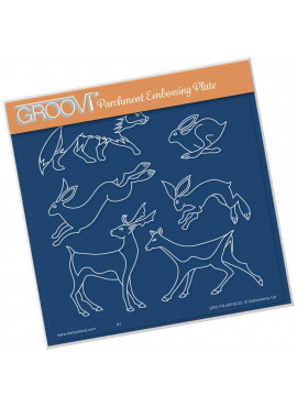 Groovi plate woodland animals A5 Square