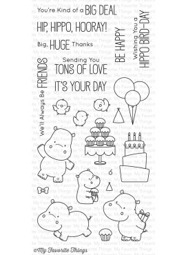 Premium clear stamps Happy Hippos