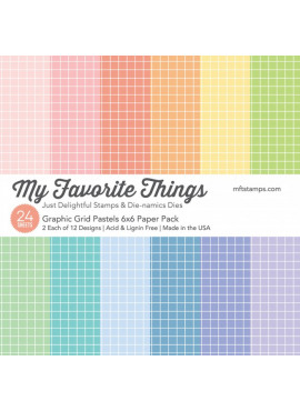 Graphic grid pastels 6x6 paper pack