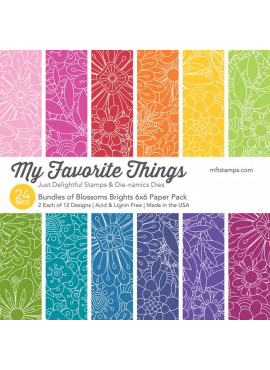 Bundles of blossoms Bright 6x6 paper pack