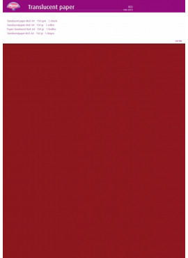 Translucent paper Red