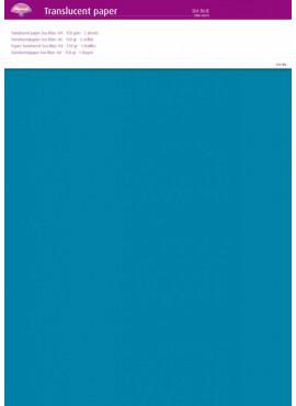 Translucent paper Sea Blue